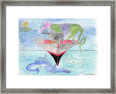 Elephoot On Tanker Ship Framed Print