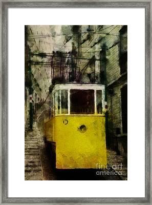 Framed Print featuring the photograph Elevador Da Bica by Dariusz Gudowicz