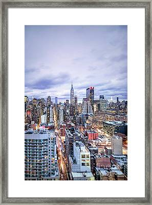 Elevate In Madness Framed Print by Evelina Kremsdorf