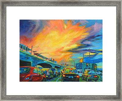 Elevated Framed Print by Bonnie Lambert
