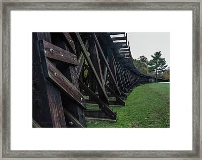 Harpers Ferry Elevated Railroad Framed Print