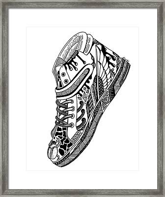 Elevated Soles No.1 Framed Print by Kenal Louis