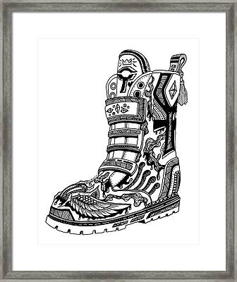 Elevated Soles No.2 Framed Print by Kenal Louis