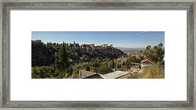Elevated View Of Alhambra Palace Framed Print