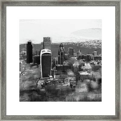 Elevated View Of London Framed Print by Gillian Dernie
