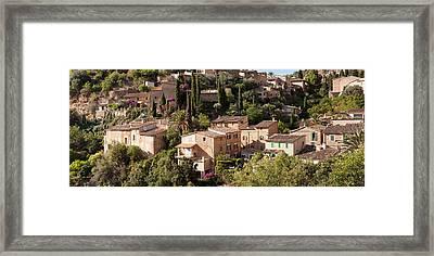 Elevated View Of The Deia, Serra De Framed Print