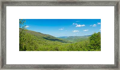 Elevated View Of The Great Smoky Framed Print by Panoramic Images
