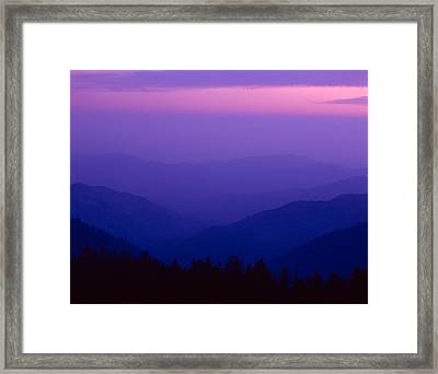 Elevated View Of Valley With Mountains Framed Print by Panoramic Images