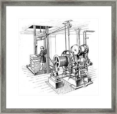 Elevator, 1862 Framed Print by Granger
