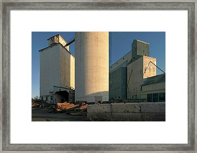 Elevators In Moscow Idaho Framed Print by Jerry McCollum