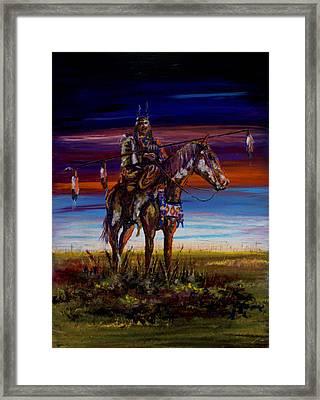 Eleven Coup Warrior Framed Print