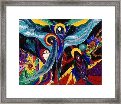 Framed Print featuring the painting Grieving by Marina Petro