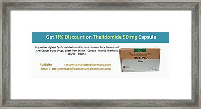 Eleven Percent Off - Thalidomide 50 Mg Capsule  Thalidomide Capsule Framed Print