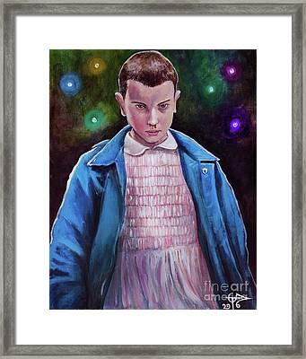 Eleven Framed Print by Tom Carlton