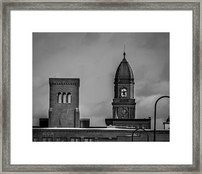 Eleven Twenty Says The Clock In The Tower Framed Print by Bob Orsillo