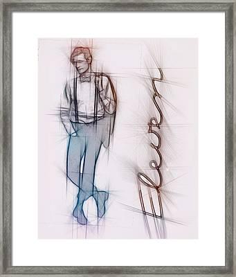 Doctor Who Inspired Eleventh Doctor   Framed Print