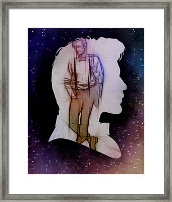 Doctor Who Inspired Eleventh Doctor Silhouette  Framed Print