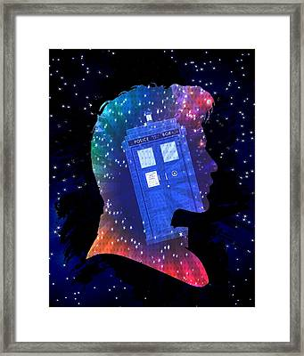 Doctor Who Inspired Eleventh Doctor Tardis Framed Print