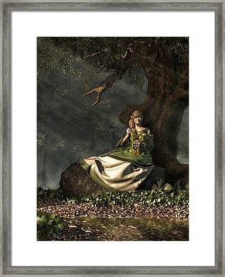 Elf Framed Print by Daniel Eskridge