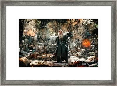 Elf King Thranduil  Framed Print