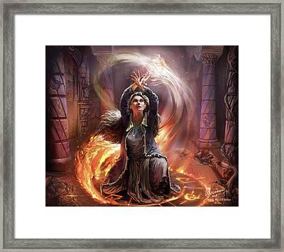 Elf Mage Framed Print by Odysseas Stamoglou