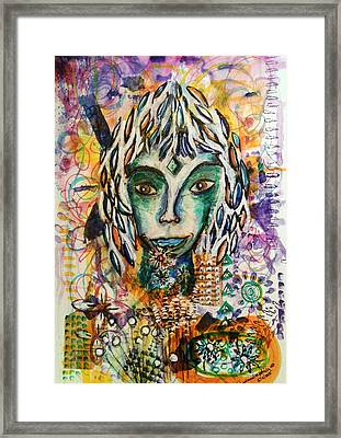 Framed Print featuring the mixed media Elf by Mimulux patricia no No