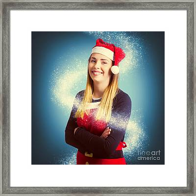 Elf Wrapped Up In The Magic Of Christmas Framed Print by Jorgo Photography - Wall Art Gallery