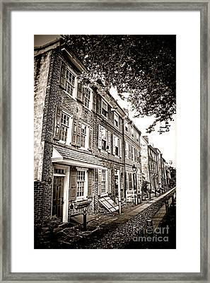 Elfreth Alley  Framed Print by Olivier Le Queinec