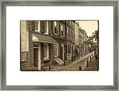 Elfreths Alley Framed Print by Jack Paolini