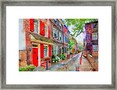 Elfreths Alley Framed Print
