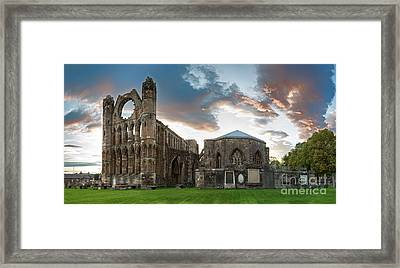 Elgin Cathedral Framed Print by Jane Rix