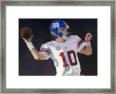 Eli Manning New York Giants Framed Print