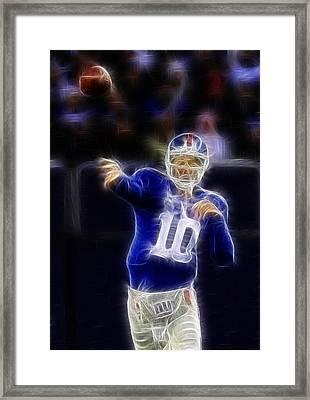 Eli Manning Framed Print by Paul Ward