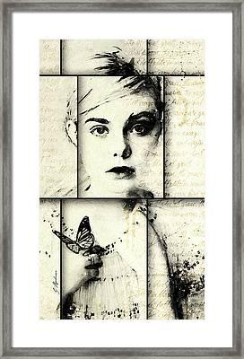 Eliannah Con Mariposa Framed Print by Gary Bodnar