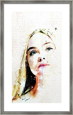 Eliannah Vernal Blush Framed Print by Gary Bodnar