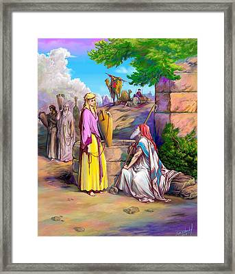 Eliezer N Rebekah Framed Print by Sam Shacked