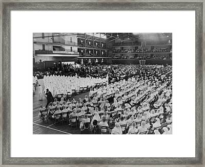 Elijah Muhammad Addressing An Assembly Framed Print