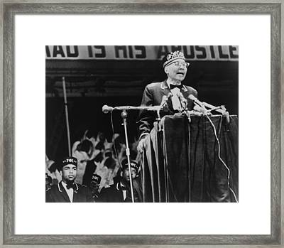 Elijah Muhammad, Leader Of The Black Framed Print by Everett