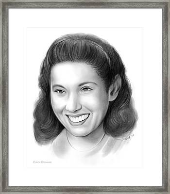 Elinor Donahue Framed Print by Greg Joens