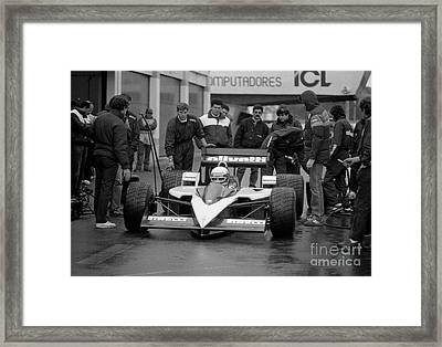 Elio De Angelis. 1986 Framed Print by Oleg Konin