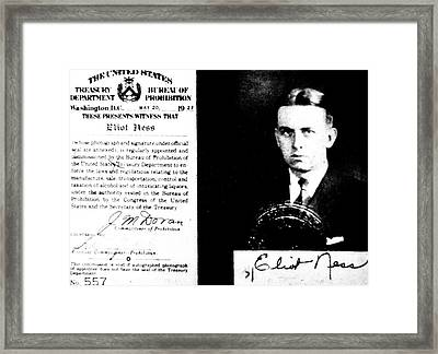 Eliot Ness Framed Print by American School