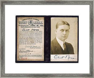 Eliot Ness - Untouchable Chicago Prohibition Agent Framed Print by Daniel Hagerman