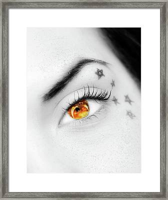 Eclipse And Lashes Framed Print