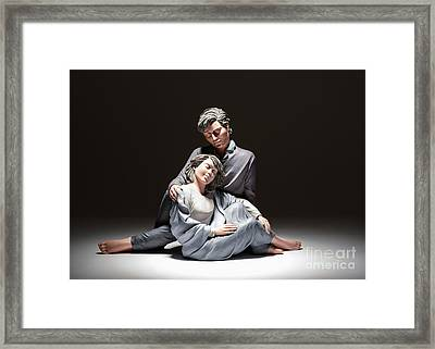Elisa Romantic Moment Framed Print by Amanda Elwell