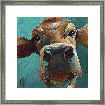 Elise The Cow Framed Print