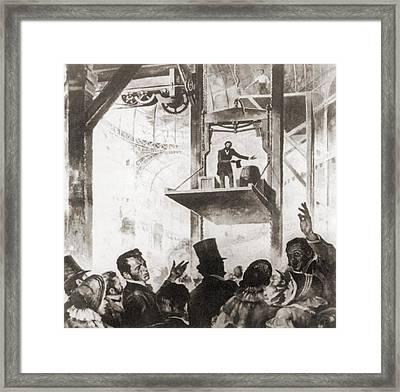 Elisha Graves Otis 1811-1861 Framed Print