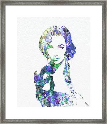Elithabeth Taylor Framed Print by Naxart Studio