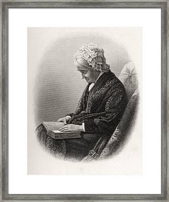 Eliza Ballou Garfield 1801 To 1888 Framed Print