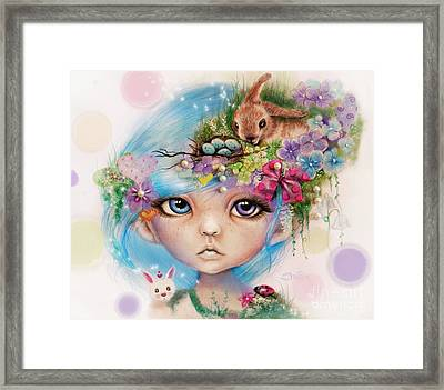 Framed Print featuring the drawing Eliza - Easter Elf - Munhkinz Character by Sheena Pike
