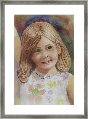 Framed Print featuring the painting Elizabeth by Donna Walsh